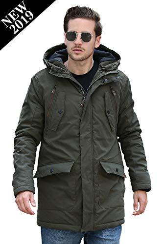 YsCube Mens Parka Jackets for Men Winter Coats for Men Down