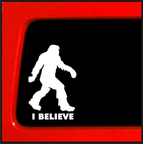 Sasquatch stick figure I Believe bigfoot Vinyl sticker funny die cut decal yeti bumper sticker