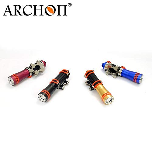 ARCHON W1A D1A Mini Dive Flashlight CREE XP-E R3 LED max 75 lumen diving torch underwater 100 meter waterproof diving light (Black) by ARCHON (Image #4)