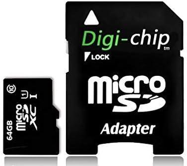 Digi-chip 64GB Micro-SD tarjeta de memoria Clase 10para Sony Xperia XZ1, XZ1compacto y smartphones de Xperia XA1Plus funda para teléfono móvil