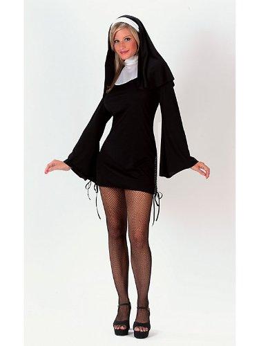 [Naughty Nun Costume - Medium/Large - Dress Size 10-14] (Naughty Nun Halloween Costumes)
