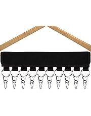 QUMENEY Cap Organizer Hanger, 10 Stainless Steel Clips Baseball Cap Holder Rack for Closet, Hats Scarfs Socks Tie Storage Over the Door for Travel Hotel Home Wardrobe