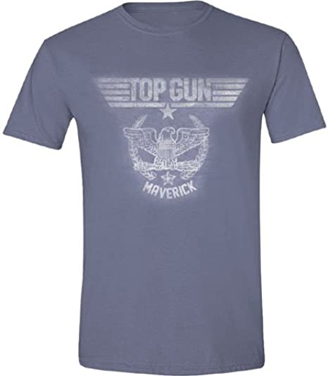 Top Gun Military Logo Camiseta Manga Corta para Hombre ...