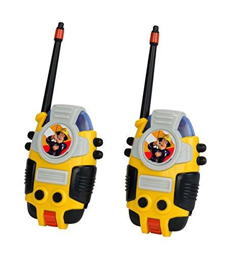 Dickie Toys 203099611 - Feuerwehrmann Sam Walkie Talkie, batteriebetriebenes Walkie Talkie, 10 cm