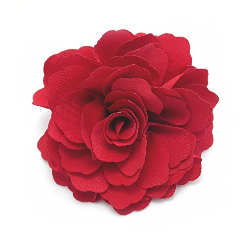 - Meilliwish Camellias Flower Hair Clip and Brooch Pin (Red) (A74)