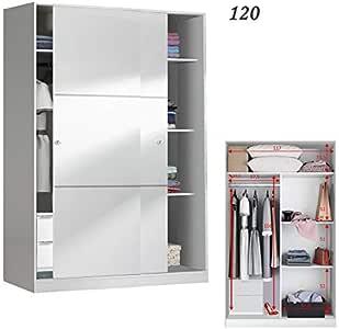 HABITMOBEL Armario 120 Puertas correderas + Colgador Interior + ...