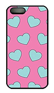 The Blue Heart Hard Case Cover iPhone 5S 5 Polycarbonate Black