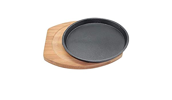 Axxiu Ollas de cocina Sartenes Plato de hierro redondo Plato ...