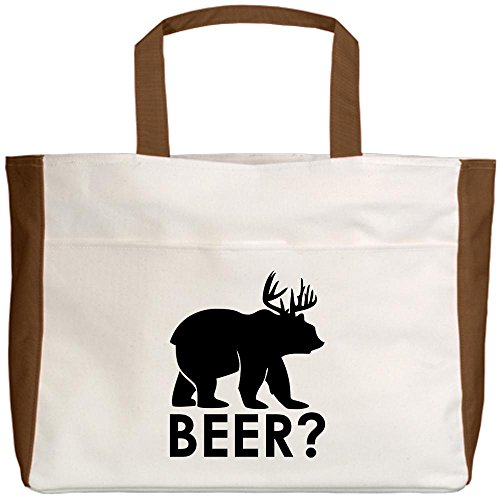 truly-teague-beach-tote-2-sided-deer-plus-bear-equals-beer-mocha