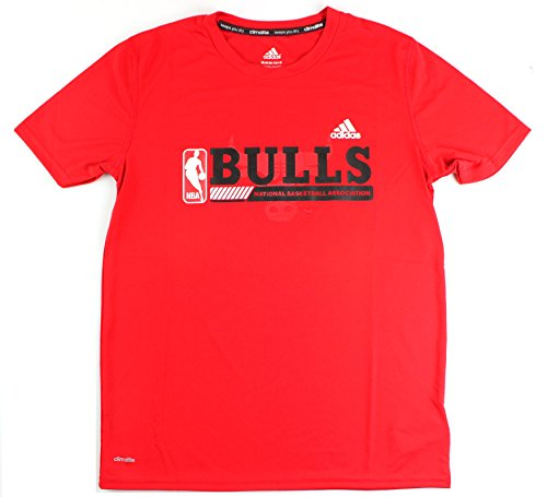 adidas Chicago Bulls NBA Youth Fast Break Climalite T-Shirt Red (Youth Large 14/16)