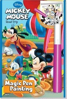 Disney Road Trip Mickey Mouse Magic Pen Painting Book by Lee - Magic Disney Pen