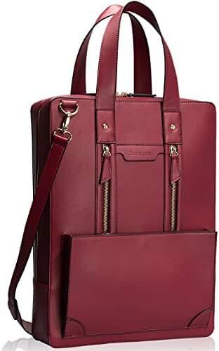 Estarer Women Business Briefcase Handbag PU Leather 15.6 Inch Laptop Work Bag