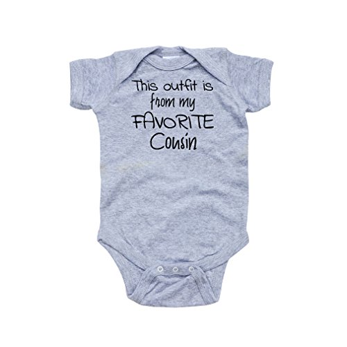 Apericots This Outfit is From My Favorite Cousin Cute Short Sleeve Baby Bodysuit