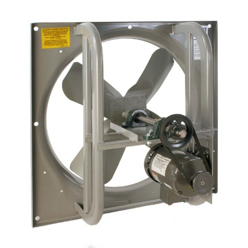 Single Phase Belt Drive Blower (Airmaster 42735 High Pressure Belt Drive Fan, Single Speed, Totally Enclosed, 3 Phase, 36