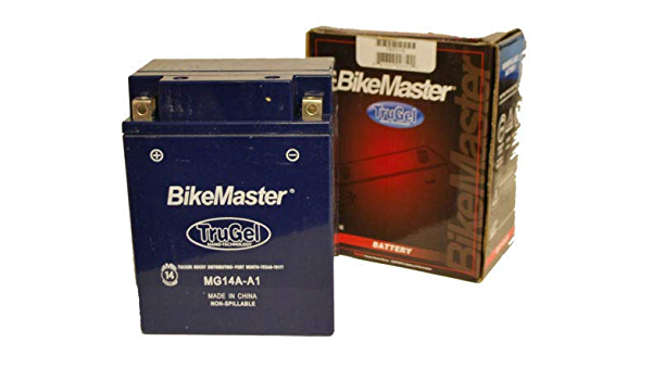 BikeMaster TruGel Battery Replaces Yamaha YB14A-A1  MG14A-A1 2-YEAR WARRANTY