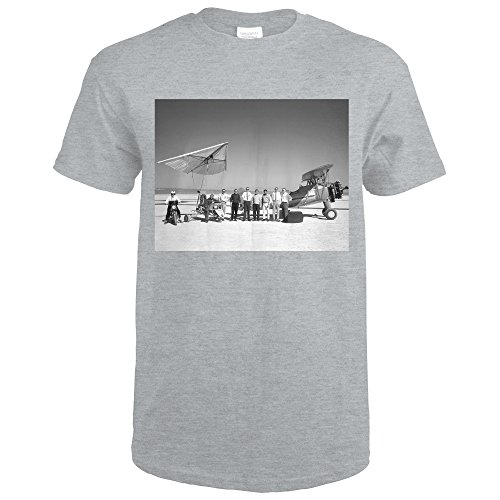 Paresev 1-A and Tow Plane With Crew and Pilot Photograph (Sport Grey T-Shirt XX-Large)