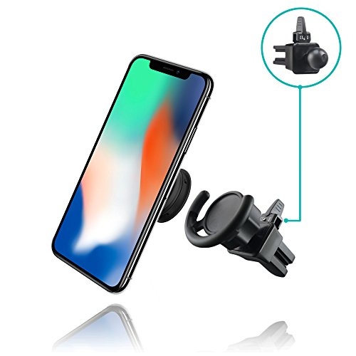 HOT NEW Pop Socket Car Mount by MiniMAX - Air Vent Adapter for Expanding Stand & Grip – Adjustable Switch Lock Technology – Works with iPhone and Android