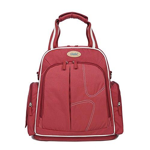 Bolso de múltiples funciones de la mamá, bolso de la madre de los hombros, bolso grande del bebé de la capacidad, bebé fuera del paquete, mujeres embarazadas para ser paquete producido ( Color : Rojo  Rojo