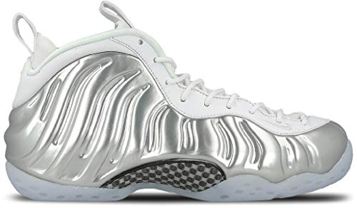 Nike Women's Air Foamposite One White/Chrome-BlueTint AA3963-100 (Size: 7.5)