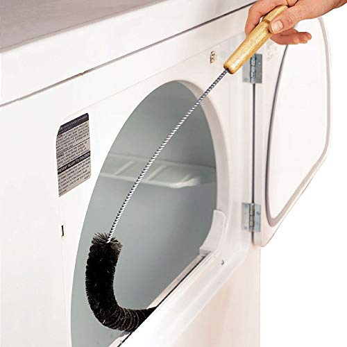 Dryer Lint Brush Vent Trap Cleaner Long Flexible Refrigerator Coil Brush Ideal For Washers Coil Brush, Dryers Coil Brush, Air Vents Coil Brush Clothes Dryer Coil Brush (2 x Cleaning brush, Black)