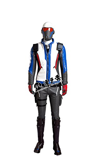 Overwatch Soldier 76 Jacket cosplay costume Coat Outfit Gloves (Soldiers Outfit)