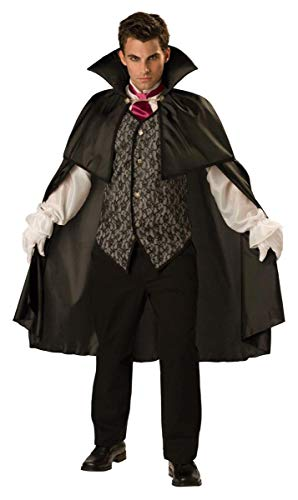 InCharacter Costumes Men's Midnight Vampire Costume, Black, Large -