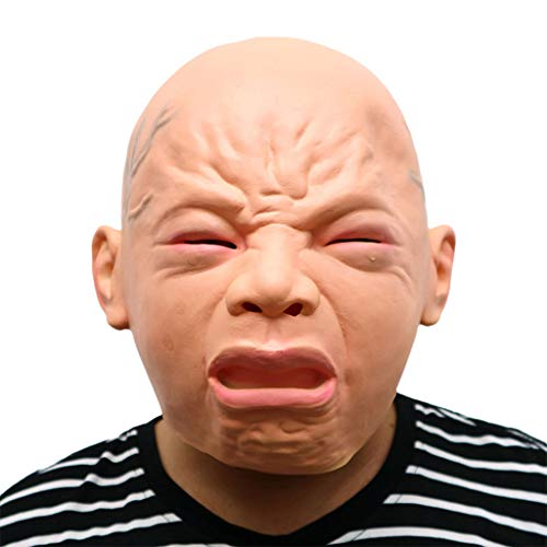 Masks for Adults Latex Head Mask,Halloween Costume Party Cry Baby Masquerade Horror Zombie Ghost Fancy Dress -