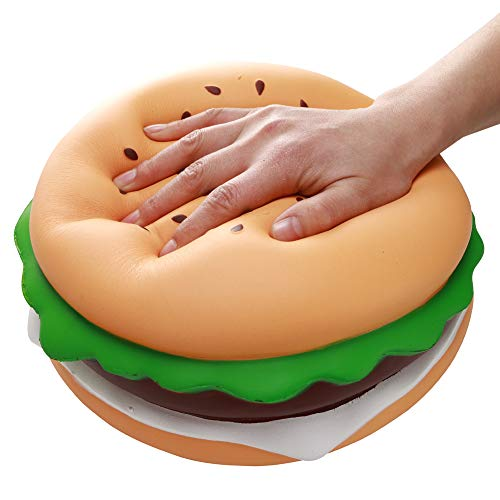 10'' inch Jumbo squishies slow rising squishies slow rise squishy hamburger squishy giant scented squishies kawaii stress relief Toys decompression squeeze toys novelty gifts for kids party adults by Bingcute (Image #1)