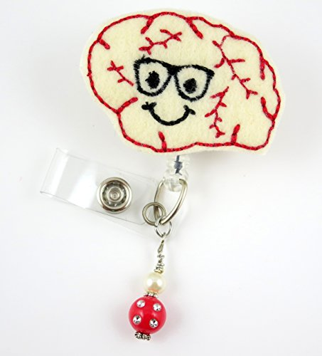 Cute Brain Boy - Nurse Badge Reel - Retractable ID Badge Holder - Nurse Badge - Badge Clip - Badge Reels - Pediatric - RN - Name Badge Holder