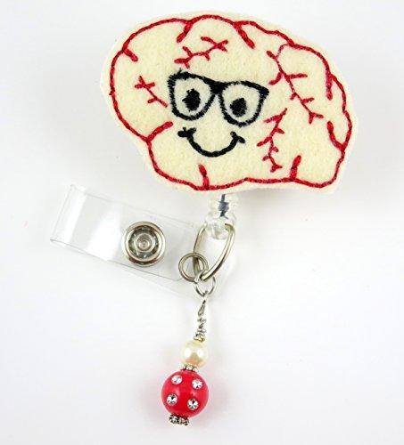 Cute Brain Boy - Nurse Badge Reel - Retractable ID Badge Holder - Nurse Badge - Badge Clip - Badge Reels - Pediatric - RN - Name Badge Holder