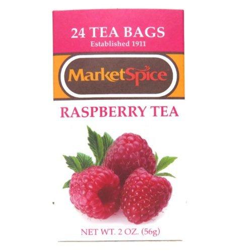 (Marketspice Raspberry Tea 2 oz Box of 24 Teabags (Pack of 2) )