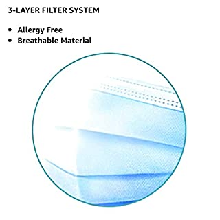 Disposable three layers Blue 50units/bag