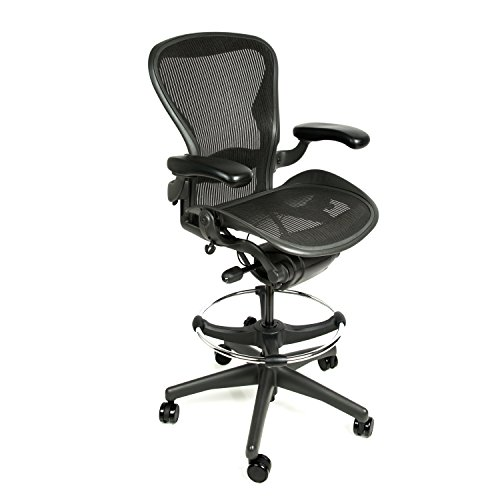 Herman Miller Aeron Drafting Stool Size C with After Market Drafting -
