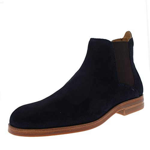 H By Hudson Mens Tonne Suede Chelsea Boot Navy