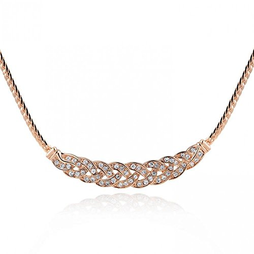 Bestsellerwen New Arrival (2 pcs/lot) Popcorn Chain Crystal Jewelry for Women Men18K Rose Gold Filled Tin Alloy Knitted Collares Choker Necklace Whoelsale