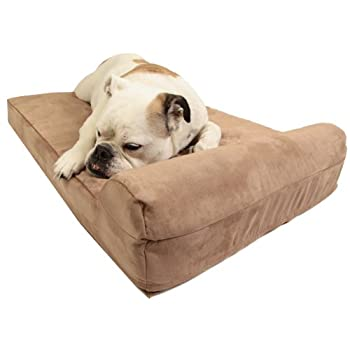 Image of Big Barker Mini - 4' Pillow Top Orthopedic Dog Bed with Headrest for Small and Medium Sized Dogs 20-50 Pounds Home and Kitchen