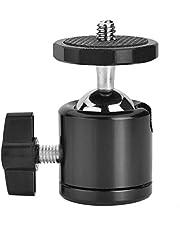 """360 graden draaibaar balhoofd, 1/4""""schroefbevestiging aluminium ministatief balhoofd voor DSLR-camera statief balhoofdstandaard statiefkoppen(Zwart)"""