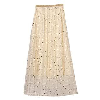 Qijinlook 💖 Faldas Tul Mujer/Faldas largas Fiesta Elegante ...