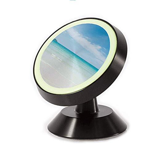 (Magnetic Dashboard Cell Phone Car Mount Holder,Lands Crystal Color Sea with Magical Sky Surf Hot,can be Adjusted 360 Degrees to Rotate,Phone Holder Compatible All Smartphones)