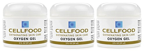 Cellfood Skin Care Oxygen Gel, 2 oz. Jar (Pack of 3)- Blended with Highest-Quality Aloe Vera and Lavender Blossom Extract - Topical SkinFormulationContaining Cellfood- Promotes Youthful Complexion