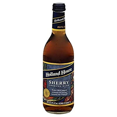 Holland House Sherry Cooking Wine 16.0 OZ(Pack of 4)