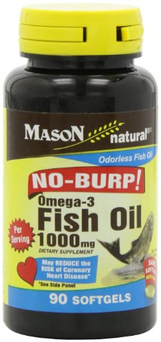 Mason Natural, Omega-3 Fish Oil, 1000 Mg, 90 Softgels, Dietary Supplement with Omega Fatty Acids from Fish Oil, Supports Heart and Joint Health