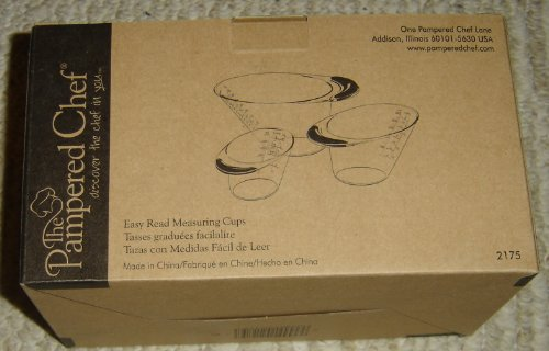 Pampered Chef Easy Read Measuring Cups (Easy Read Measuring Cups compare prices)