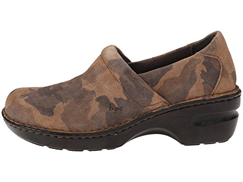 (BOC By Born Womens Peggy Tan Camo Suede Slip On Clog Mule (8 M US))