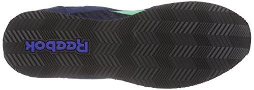 Reebok Royal Cl Jog 2rs, Zapatillas de Running para Mujer Azul / Rosa / Gris / Negro (Coll Navy/Exo Teal/Fea Pink/Steel/Black/)