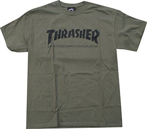 a32ceec3 Amazon.com : Thrasher Skate Mag T-Shirt [Medium] Army/Black by Thrasher  Magazine : Clothing