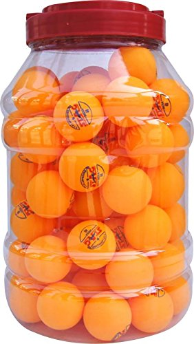 Stag Two Star Plastic Table Tennis Ball - Size: 4 (Pack of 30, Orange) by DONIC