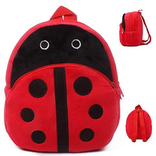 HPADR Mochila Infantil Niños Felpa Mochila Cartoon Ladybug ...