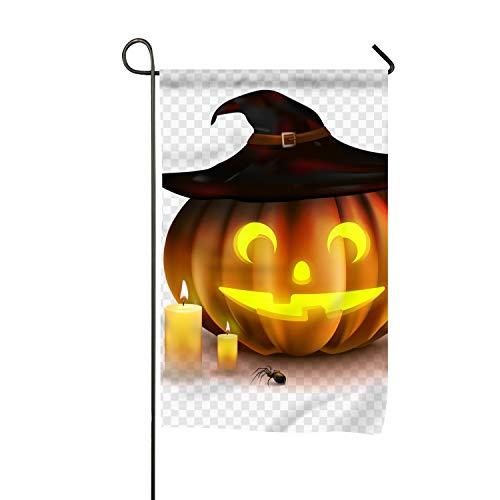 WilBstrn Seasonal Garden Flag Tock Halloween Pumpkin Welcome Home Decor Flag for Outdoors Yard -