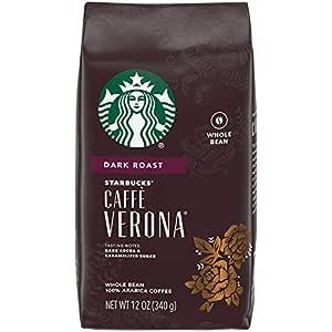Amazon.com : Starbucks Caffe Verona Dark Roast Whole Bean ...